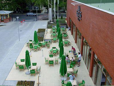 4* Hotel Azúr Siófok terasza Siófokon a Balaton partján
