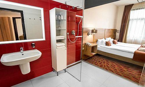 Rubin Wellness Hotel megfizethető romantikus szabad szobája Budán