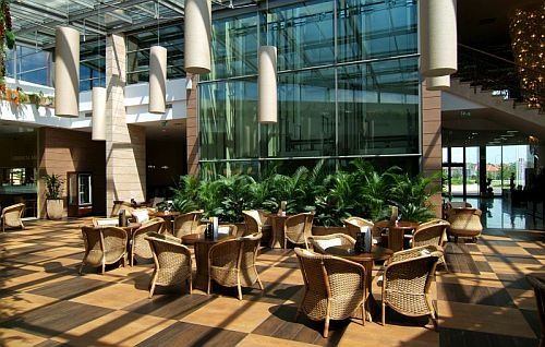 Wellness birodalom télikertje Budapesten az Aquaworld Hotelben