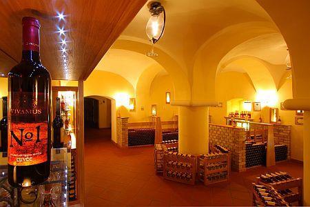 Anna Grand Hotel 4* elegáns borterme és borozója Balatonfüreden