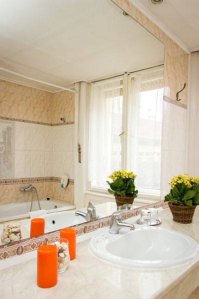 City Hotel Unio budapesti szálloda fürdőszobája