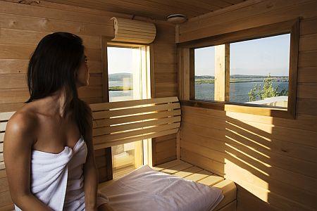 Hotel Nautis saunája Gárdonyban a Velencei Tónál