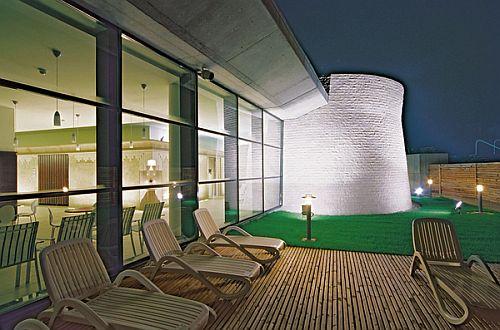 Egerszalóki Saliris**** Hotel terasza panorámával a sódombra