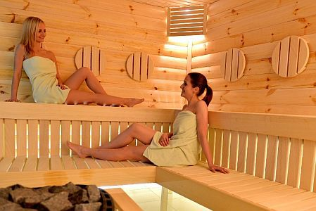 Hotel Residence 4* siófoki hotel szaunája a Balatonnál