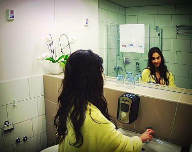 Harkányi Psoriasis Kórház Hotel szép fürdőszobája