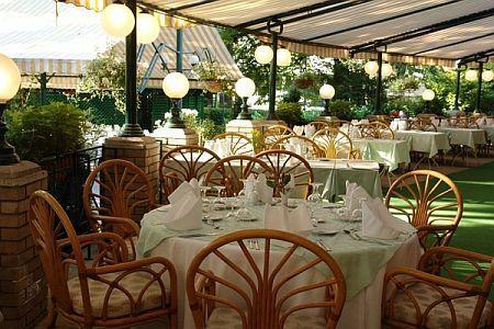 Grand hotel Margitszigeti gyógyszálloda terasza - Margitsziget Grand hotel Budapest